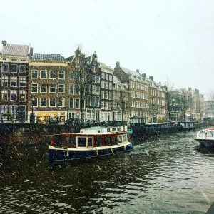 Oh Amsterdam you are pretty but the snow really hindershellip