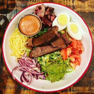 Downtown Dallas salad bubbaqedinburgh Only 7 on the lunch menuhellip