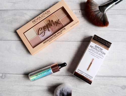 Selection of Makeup Revolution products flatly