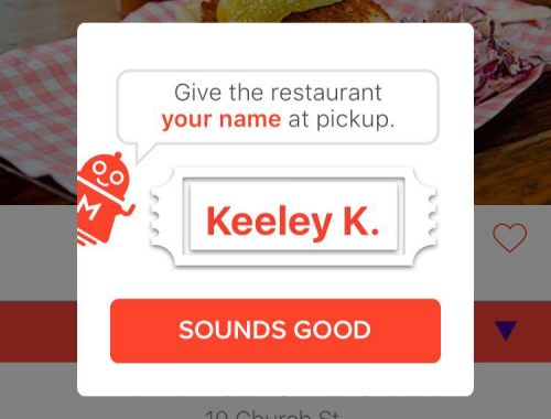 Screen grab of the MealPal App