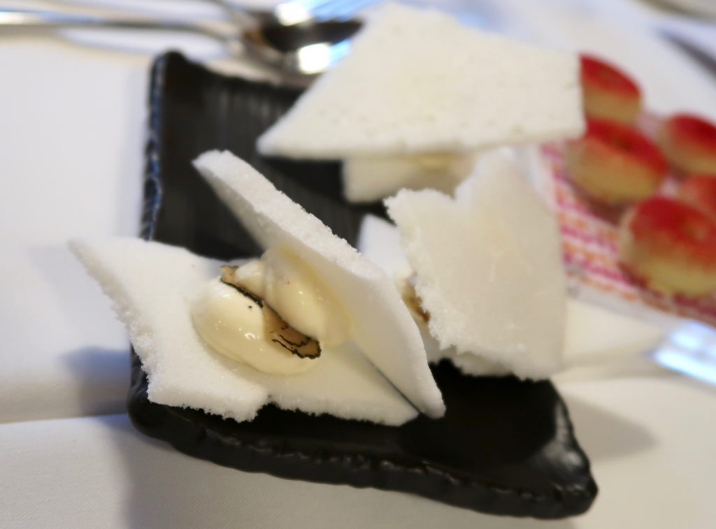 Tou de tillers cheese and truffle confit at Tast