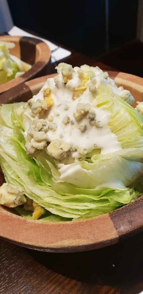 lettuce wedge with stilton at miller and carter
