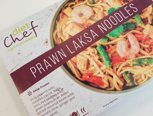 prawn laksa noodles from diet chef's new frozen range