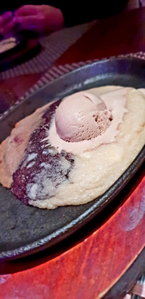 warm cookie with melted ice cream at worsley park