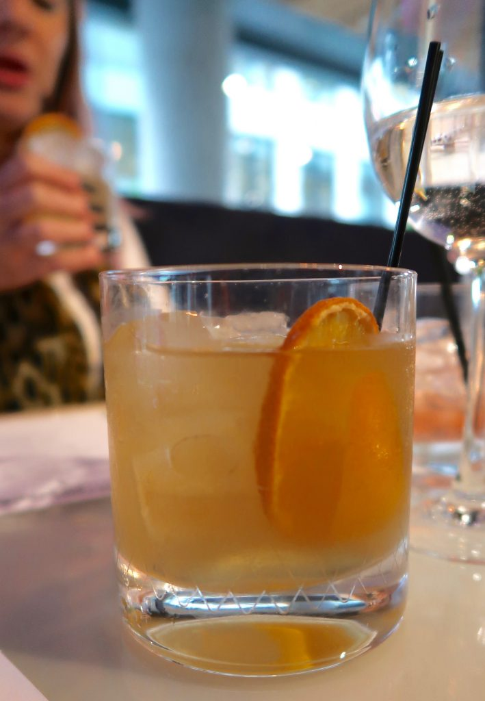 tappers darkside gin, cardamom cordial, dashi and orange