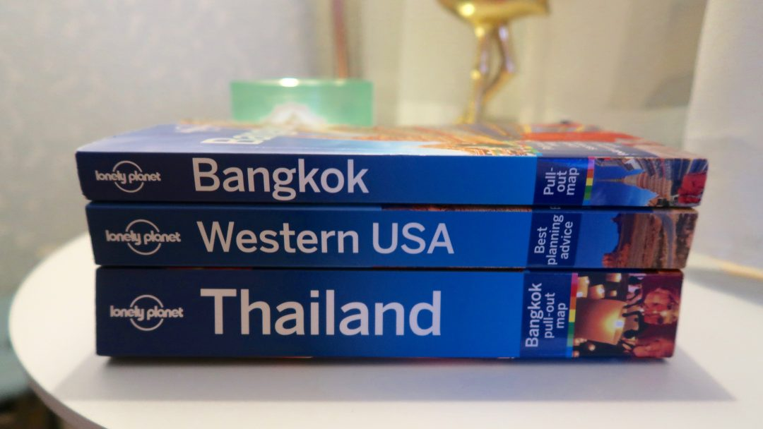 lonely planet bangkok, western usa and thailand books